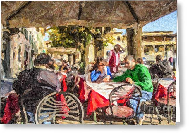Recently Sold -  - Al Fresco Greeting Cards - Fiesole al fresco Greeting Card by Liz Leyden