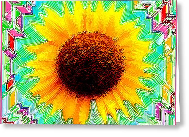 Girasol Greeting Cards - Fiesta Greeting Card by Cristophers Dream Artistry