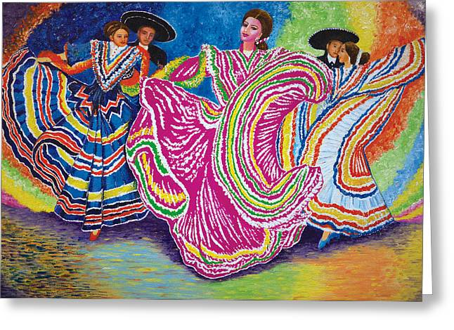 Mexican Fiesta Greeting Cards - Fiesta Latino Greeting Card by Sushobha Jenner