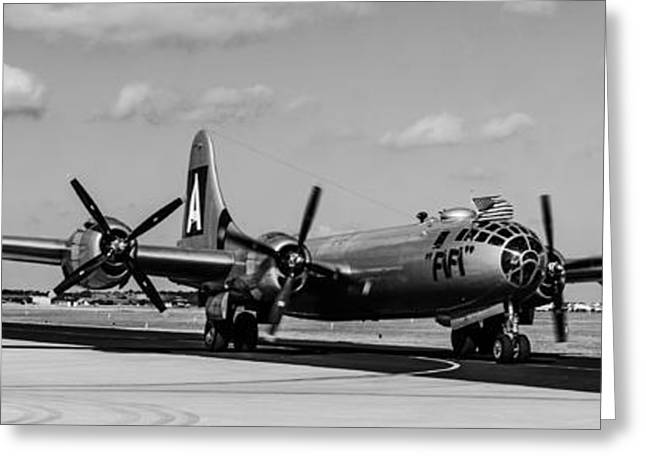 B29 Bomber Greeting Cards - Fifi Greeting Card by Alan Marlowe