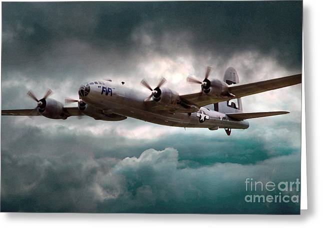 B29 Bomber Greeting Cards - Fifi Greeting Card by J Biggadike