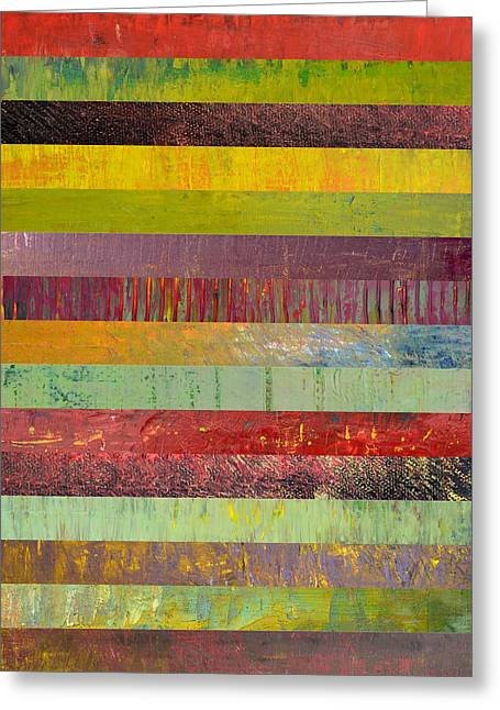 Black Olives Greeting Cards - Fifteen Stripes No. 1 Greeting Card by Michelle Calkins