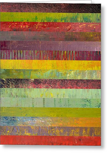 Black Olives Greeting Cards - Fifteen Stripes No. 2 Greeting Card by Michelle Calkins