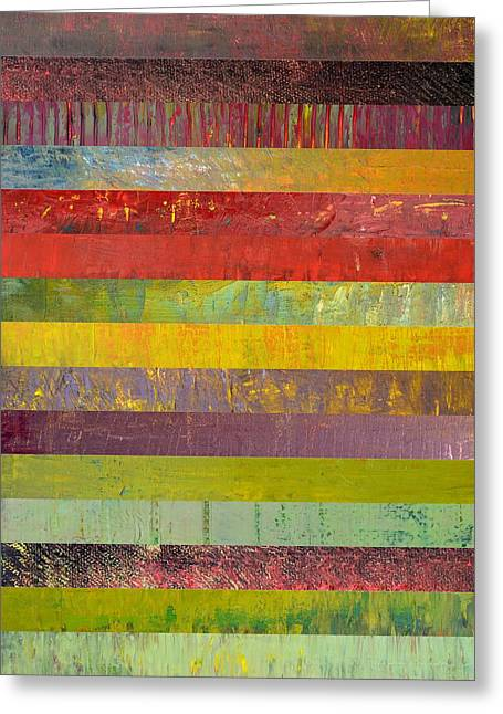 Black Olives Greeting Cards - Fifteen Stripes No. 3 Greeting Card by Michelle Calkins