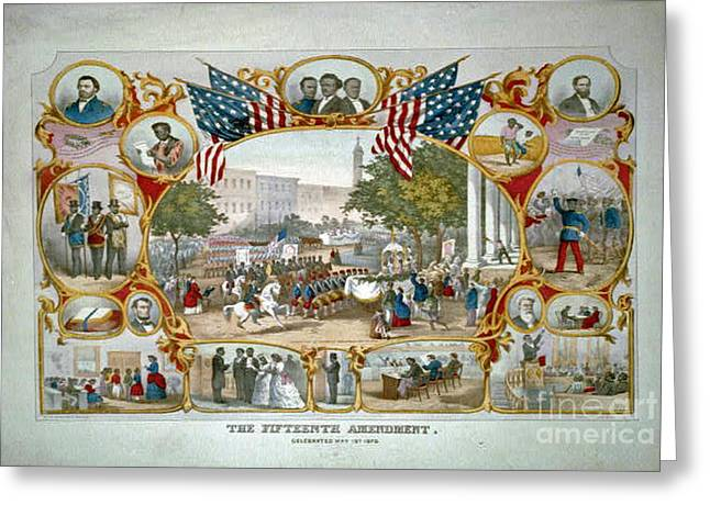 15th Amendment Greeting Cards - Fifteenth Admendment Greeting Card by Jost Houk