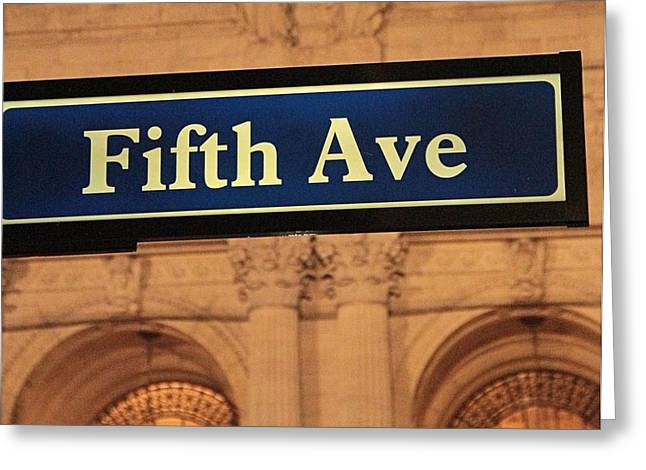 Fast Taxi Greeting Cards - Fifth Avenue Greeting Card by Dan Sproul