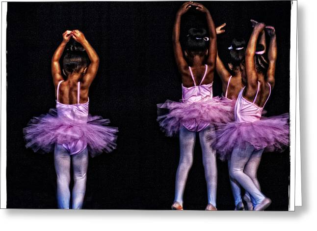 Pink Tutu Greeting Cards - Fifth Position Greeting Card by Ayesha  Lakes