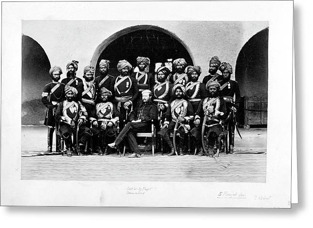 Fifth Punjab Cavalry Greeting Card by British Library