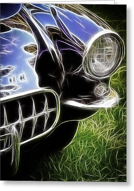 1963 Ford Greeting Cards - Fifties Vette Greeting Card by Steve McKinzie