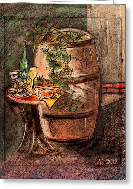 Barrel Pastels Greeting Cards - Fifty Barrels Greeting Card by AJ Williamson