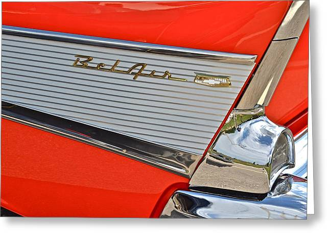 Fifty Seven Chevy Bel Air Greeting Card by Frozen in Time Fine Art Photography