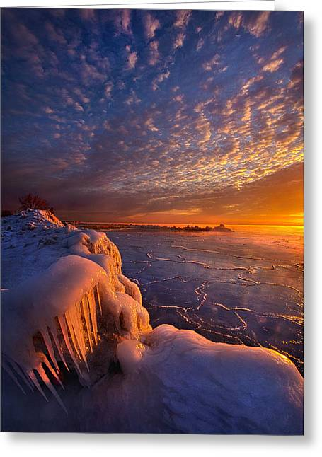 Sun Ray Greeting Cards - Fifty Shades of Sunrise Greeting Card by Phil Koch