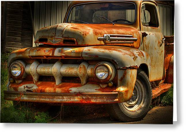 Classic Truck Greeting Cards - Fifty Two Ford Greeting Card by Thomas Young