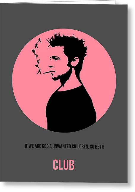 Fought Greeting Cards - Fight Club Poster 1 Greeting Card by Naxart Studio