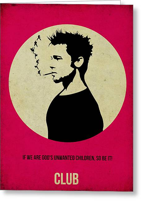 Edwards Greeting Cards - Fight Club Poster Greeting Card by Naxart Studio