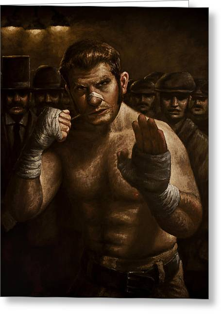 Fighters Greeting Cards - Fight Greeting Card by Mark Zelmer