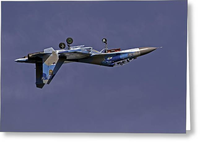 Acrobat Image Greeting Cards - Fighter jet. Greeting Card by Fernando Barozza