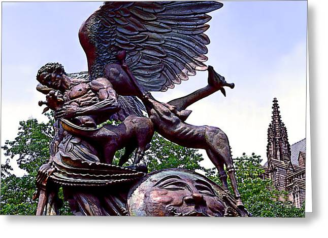 Fighting Angel Greeting Card by Terry Reynoldson