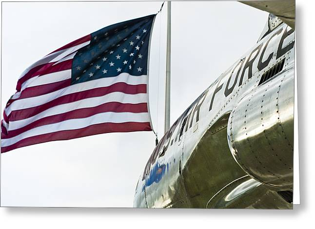 Flying Flag Greeting Cards - Fighting Flyers Greeting Card by Christi Kraft