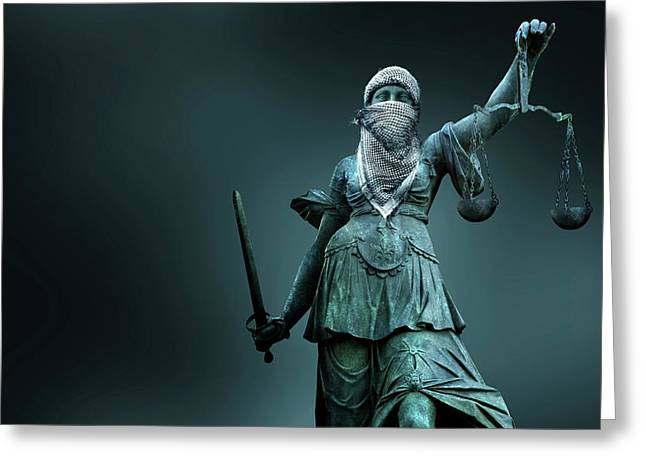 Fighting For Justice Greeting Card by Smetek