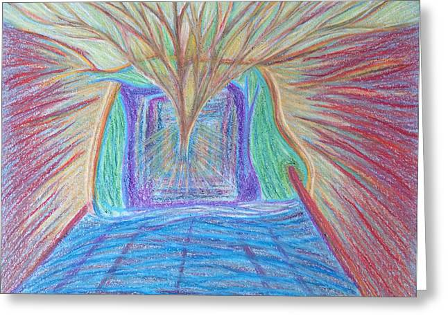 Transformations Pastels Greeting Cards - Fighting Violence with Inner Light Greeting Card by Jamie Rogers