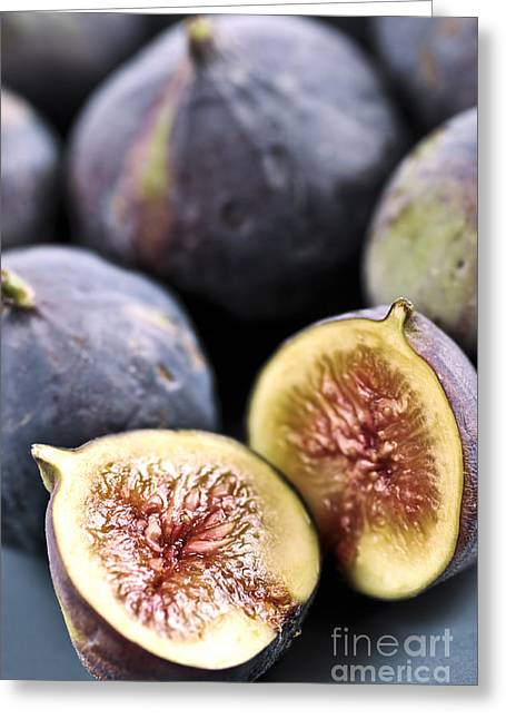 Halved Greeting Cards - Figs Greeting Card by Elena Elisseeva