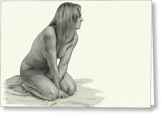 People Greeting Cards - Figure Drawing Greeting Card by Dirk Dzimirsky