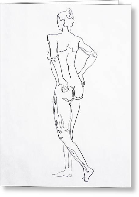 Figure Drawing Study I  Greeting Card by Irina Sztukowski