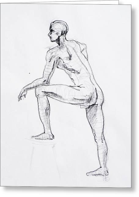 Figure Drawing Study II Greeting Card by Irina Sztukowski