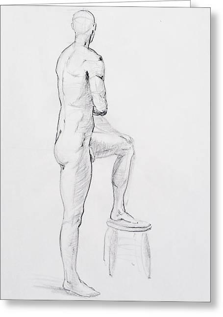 Figure Drawing Study Iv Greeting Card by Irina Sztukowski