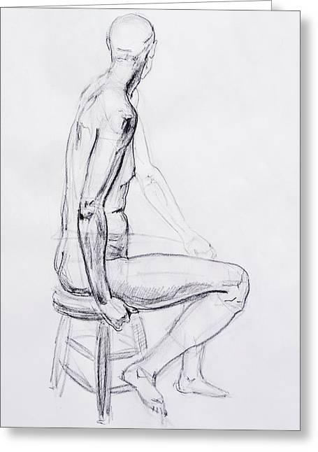 Figure Drawing Study V Greeting Card by Irina Sztukowski
