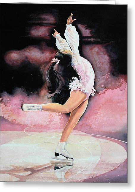 Kids Books Paintings Greeting Cards - Figure Skater 20 Greeting Card by Hanne Lore Koehler