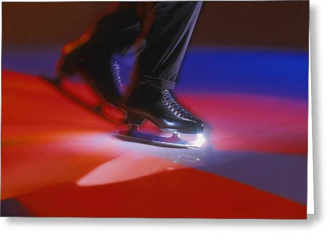 Metal Skill Greeting Cards - Figure Skates Greeting Card by Don Hammond