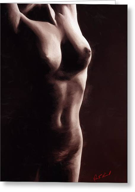 Single Figure Study Greeting Cards - Figure Study 2 Greeting Card by Dave Nicoll