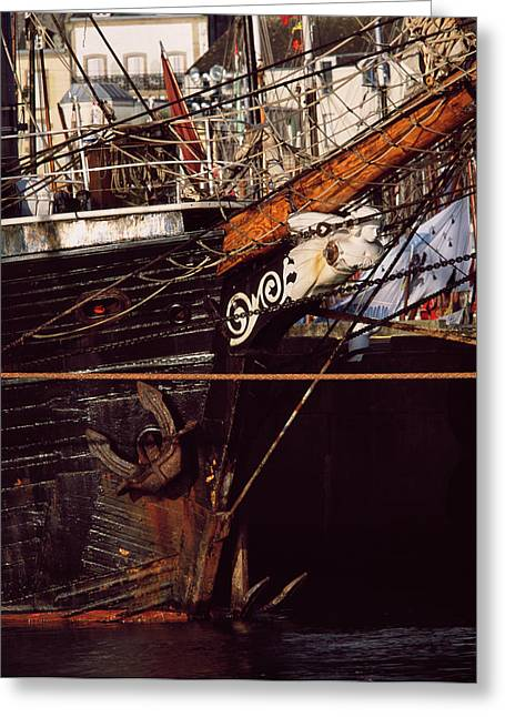 Figurehead On Tall Ship In Douarnenez Greeting Card by Panoramic Images