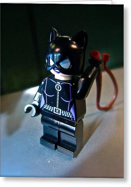 Lego Greeting Cards - Figures at Work - Catwoman 3345 Greeting Card by Sandy Tolman
