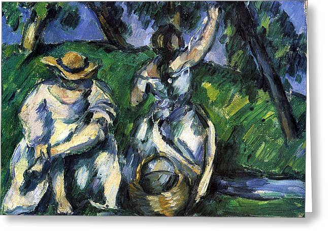 John Peter Greeting Cards - Figures by Cezanne Greeting Card by John Peter