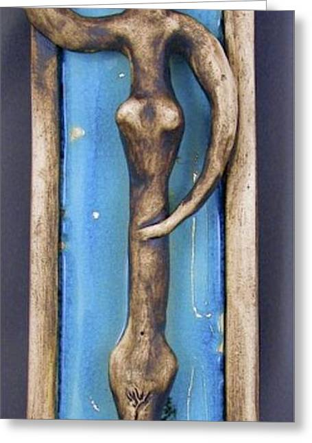 Female Ceramics Greeting Cards - Figurine #1 Greeting Card by Mario Perron