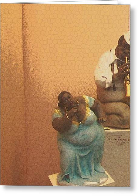 African-american Digital Greeting Cards - Figurines in Florence Greeting Card by Lorna Bush