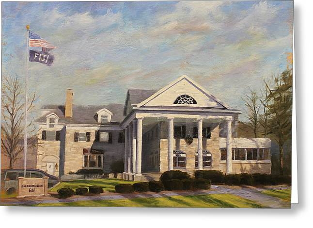 Indiana University Greeting Cards - Fiji Fraternity House IU Indiana University Greeting Card by Steve Haigh