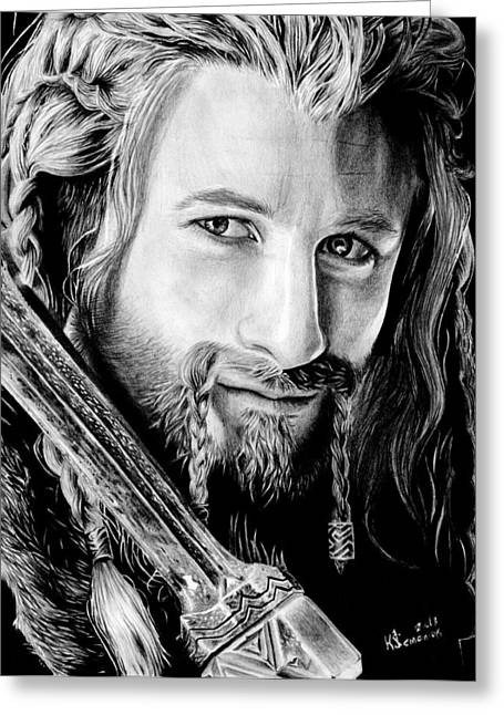 Lord Of The Rings Drawings Greeting Cards - Fili the Dwarf Greeting Card by Kayleigh Semeniuk