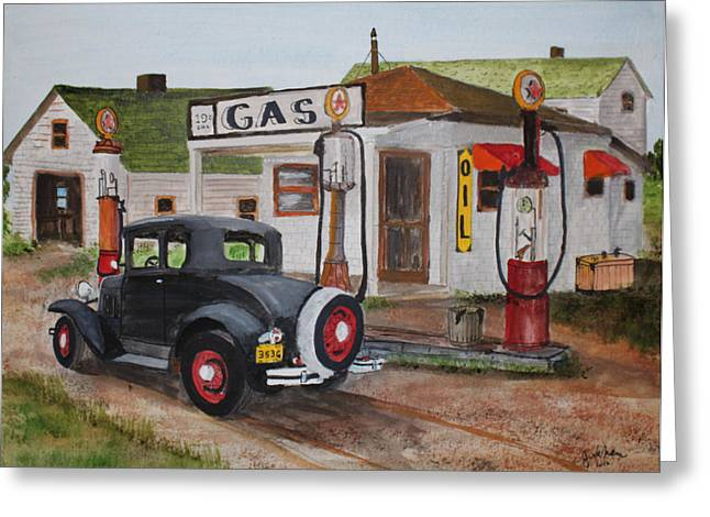 Fill Er Up Greeting Card by Jack G  Brauer
