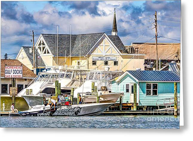 Morehead Greeting Cards - Fill Her Up  Greeting Card by Stan Ramsay