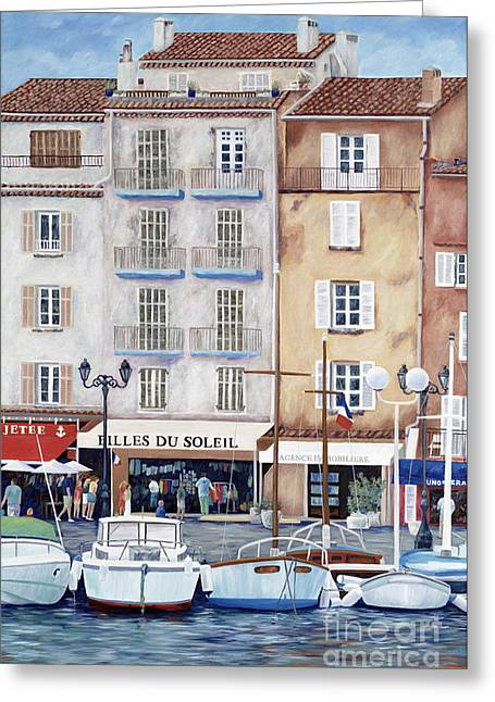 St.tropez Greeting Cards - Filles du Soleil  Greeting Card by Danielle  Perry