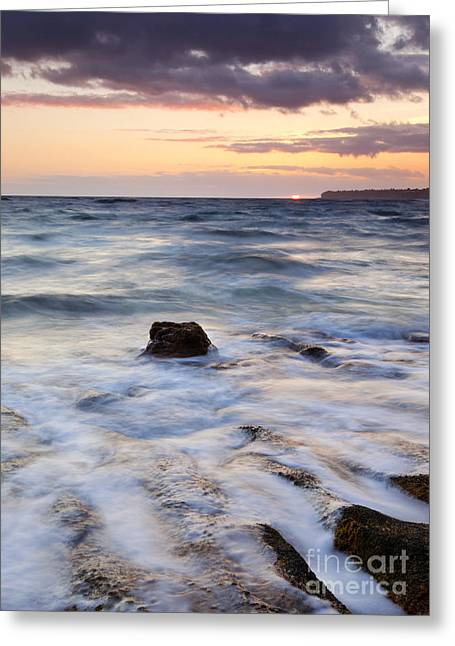 North Shore Greeting Cards - Filling the Cracks Greeting Card by Mike Dawson