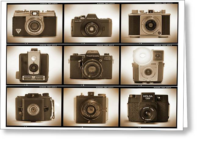 Vintage Camera Greeting Cards - Film Camera Proofs 3 Greeting Card by Mike McGlothlen