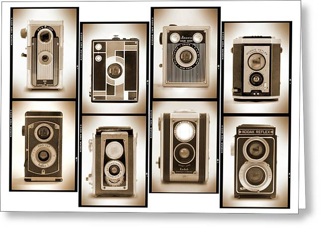 Vintage Camera Greeting Cards - Film Camera Proofs 4 Greeting Card by Mike McGlothlen