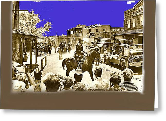 Film Homage Cameron Mitchell The High Chaparral Main Street Old Tucson Az Publicity Photo Greeting Card by David Lee Guss