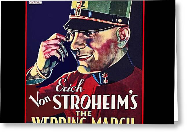 Wray Greeting Cards - Film homage Erich Von Stroheim Fay Wray The Wedding March 1928 collage 2008 Greeting Card by David Lee Guss