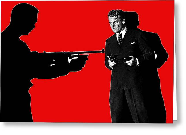 James Cagney Photographs Greeting Cards - Film homage James Cagney Angels With Dirty Faces 1939-2014 Greeting Card by David Lee Guss